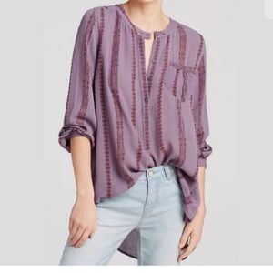Free People Purple Shibori Tunic Top